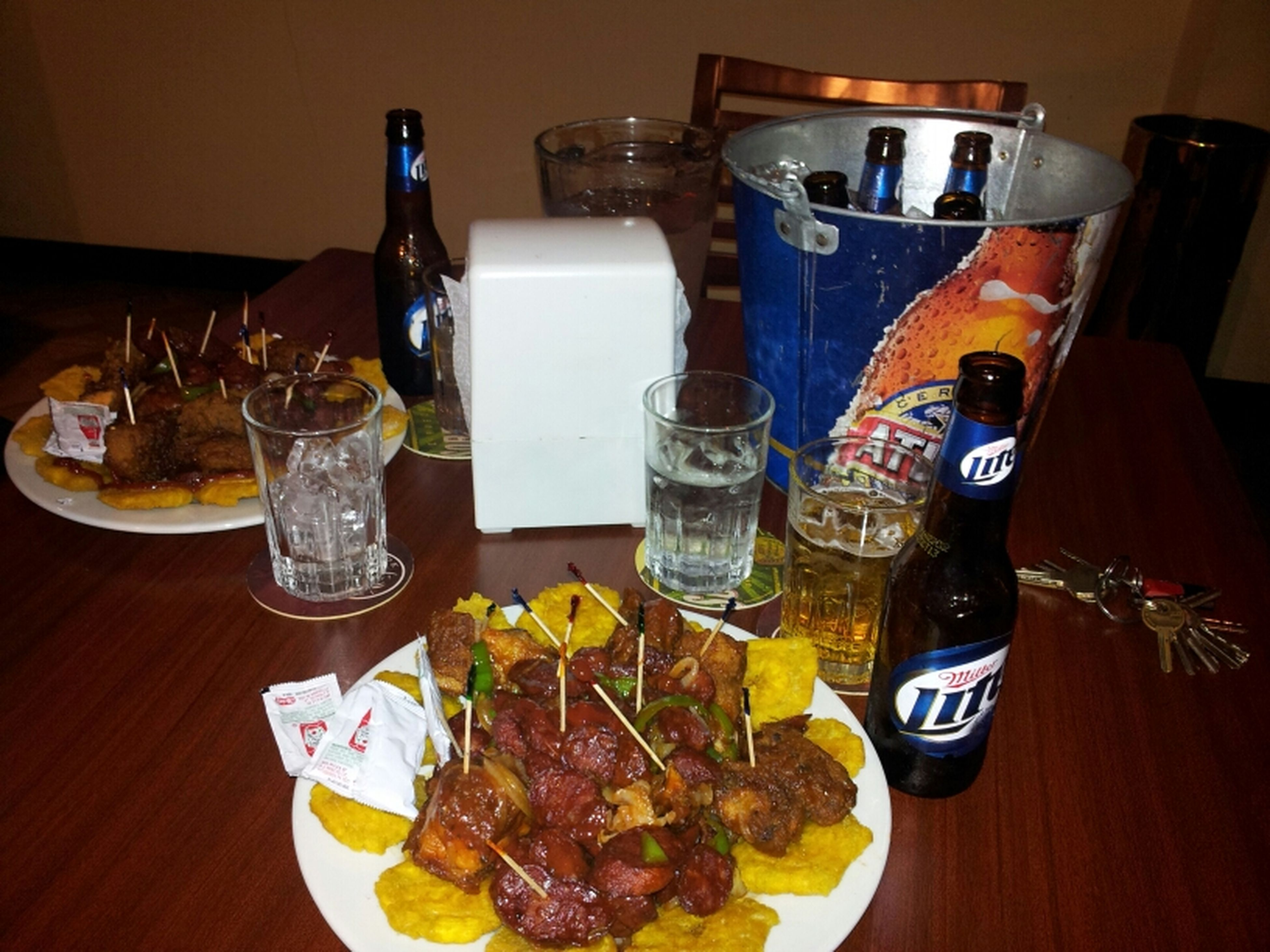 Having Dinner At Royal Casino Santiago.