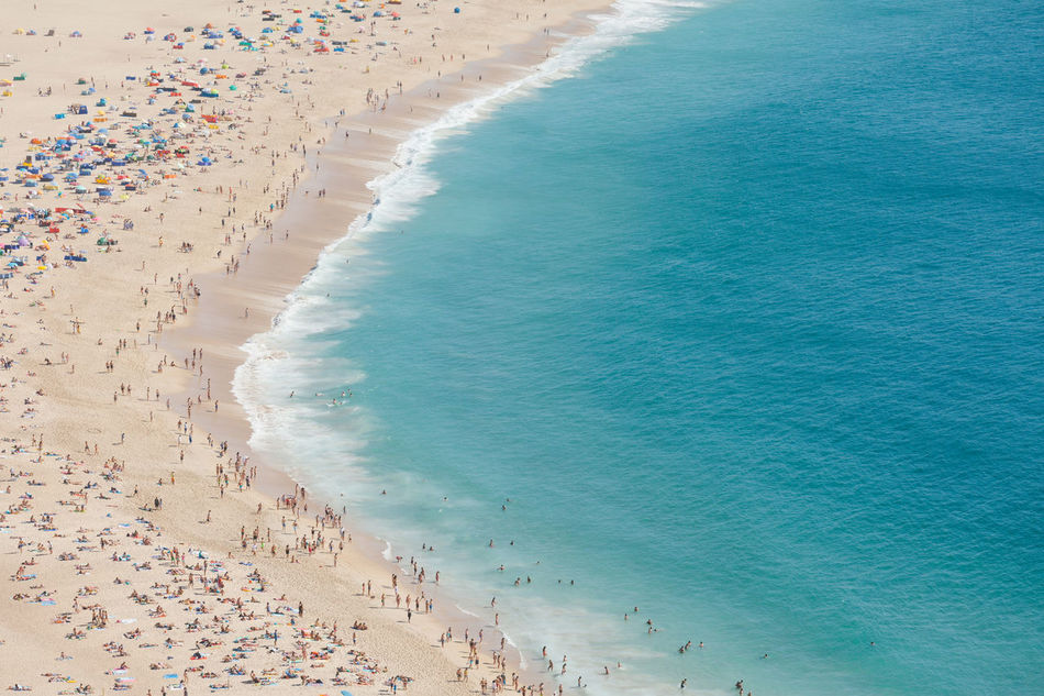 Beautiful stock photos of meer, Nazaré, Portugal, Recreational Pursuit, aerial View