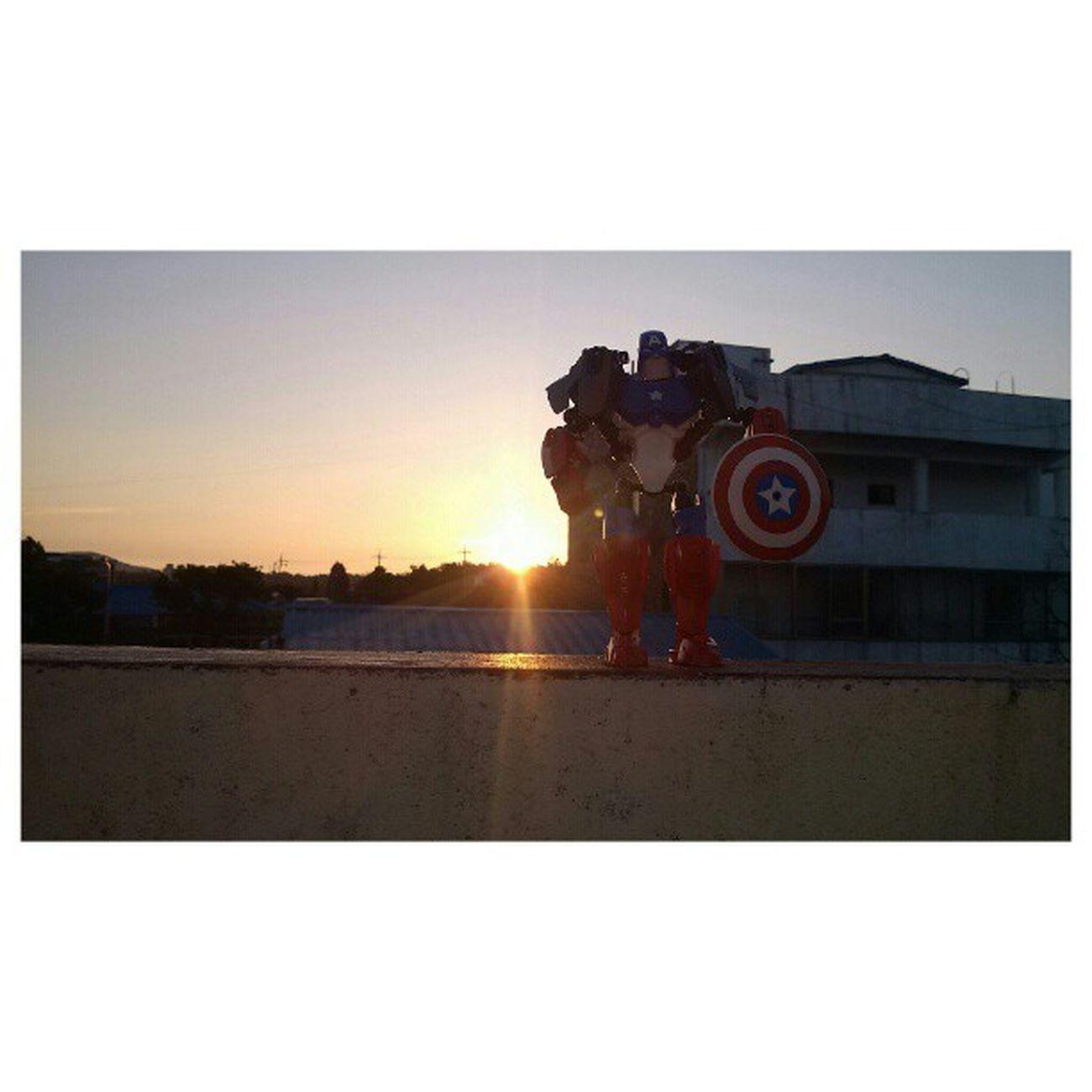밤새 근무중 이상무 레고 일출 새벽6시 옵티머스LTE