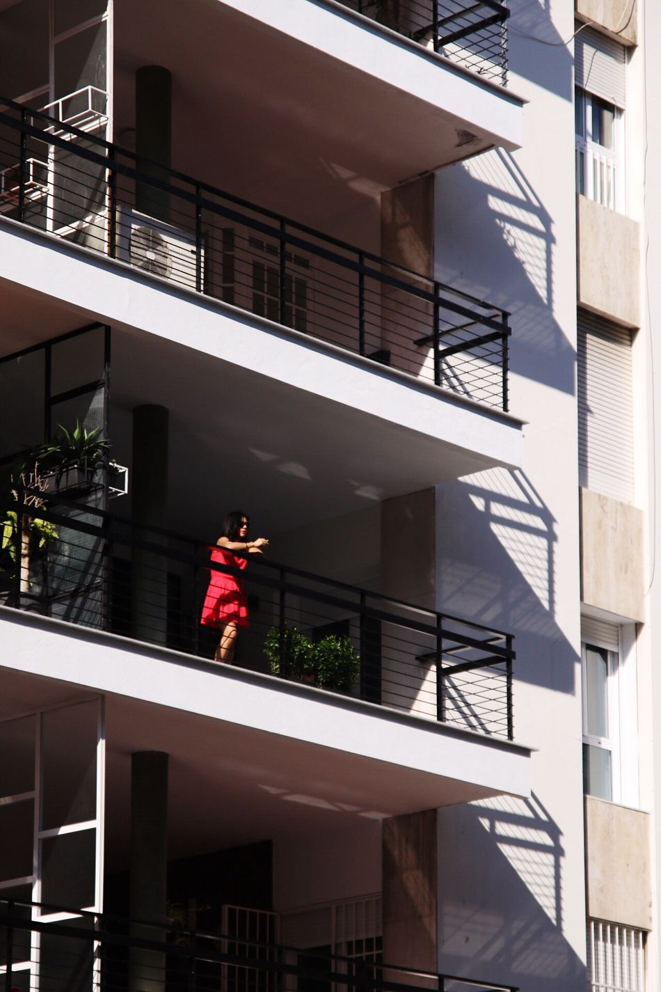 Art Is Everywhere Balcony One Person Woman Lady Red Dress Chilling Alone The Secret Spaces