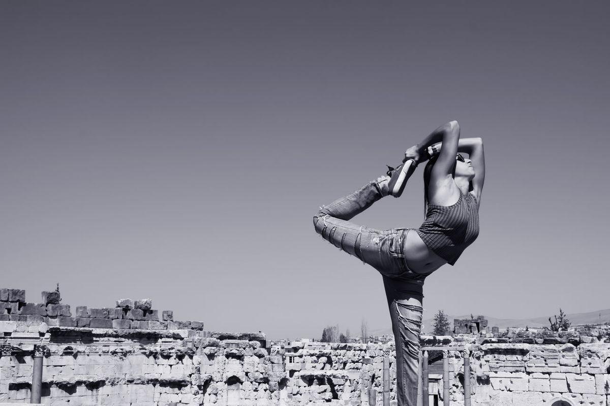 Dance Photography Baalbeck Roman Temple Black & White