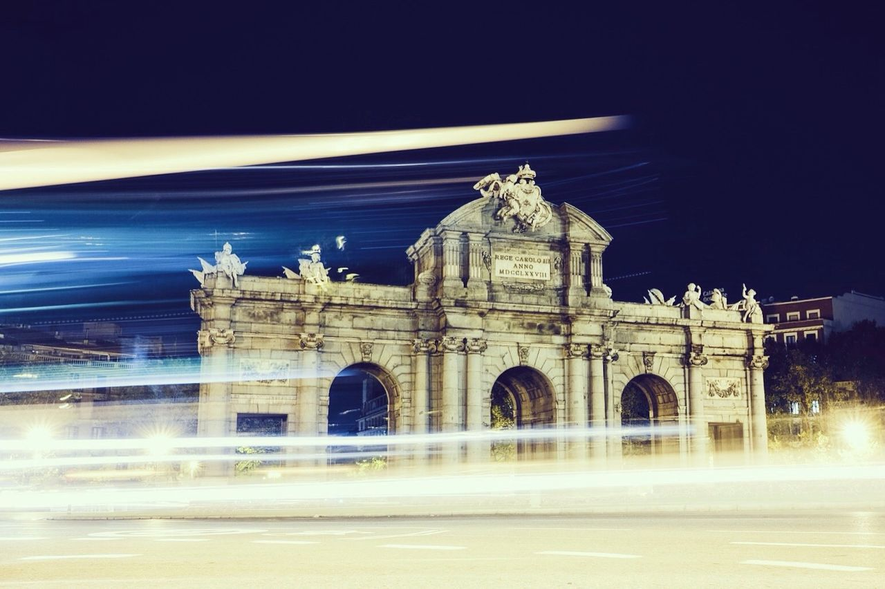 Madrid Spain History City Illuminated Architecture puerta de Alcalá