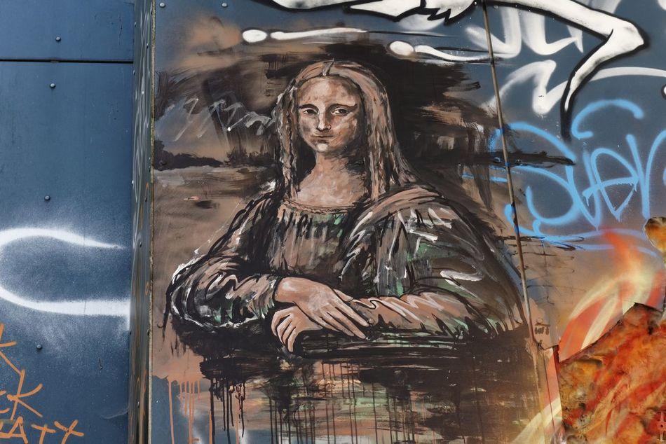 Women Human Body Part Adult People Close-up Adults Only Day Streetart Street Art/Graffiti Mona Lisa Mona Lisa Style