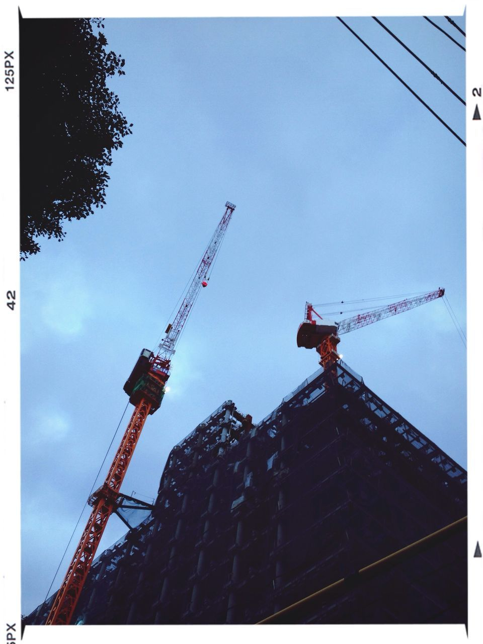 Low Angle View Of Construction