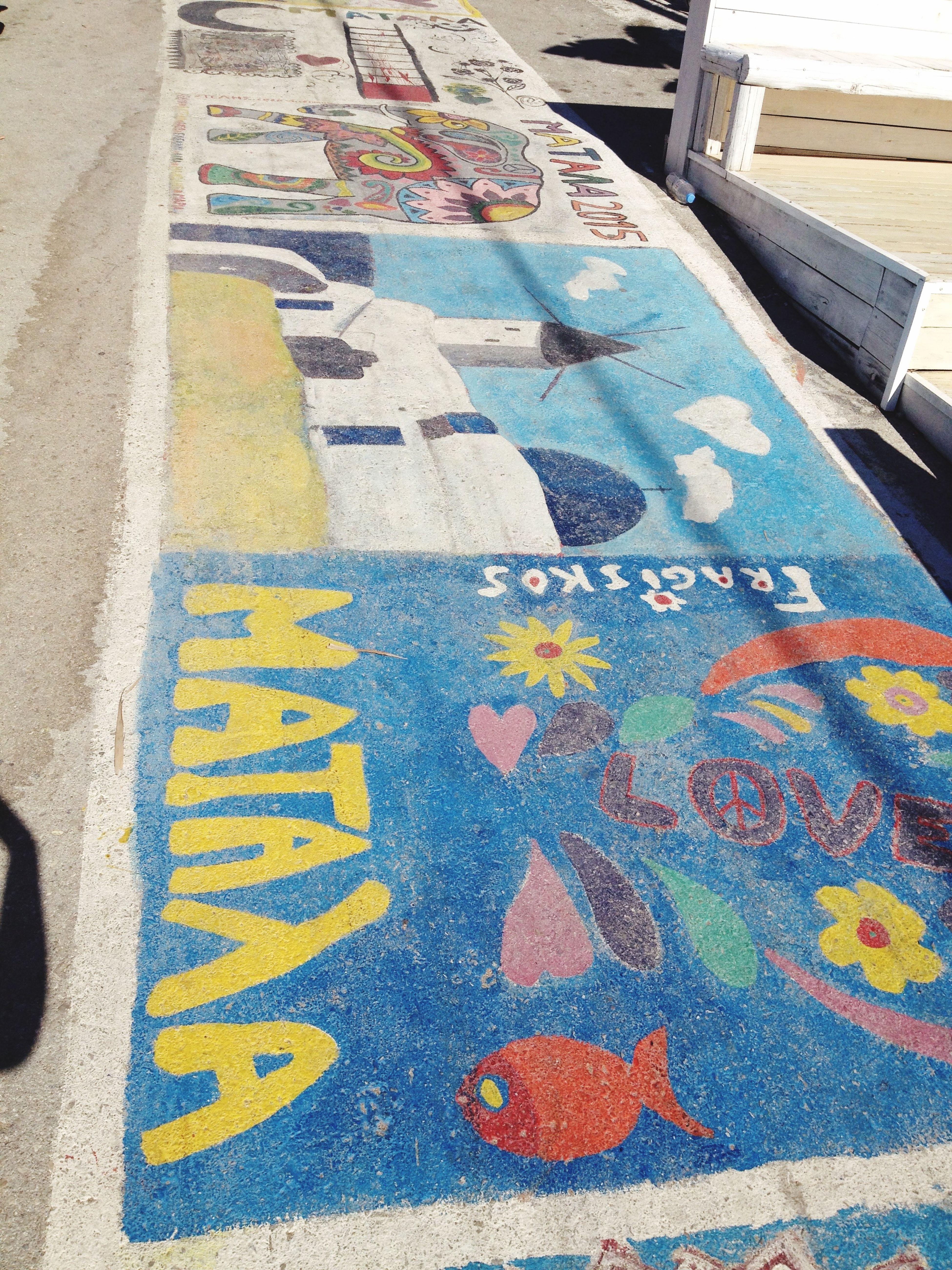 Matala ArtWork Road Art Road Art Drawing Hippies Hippie