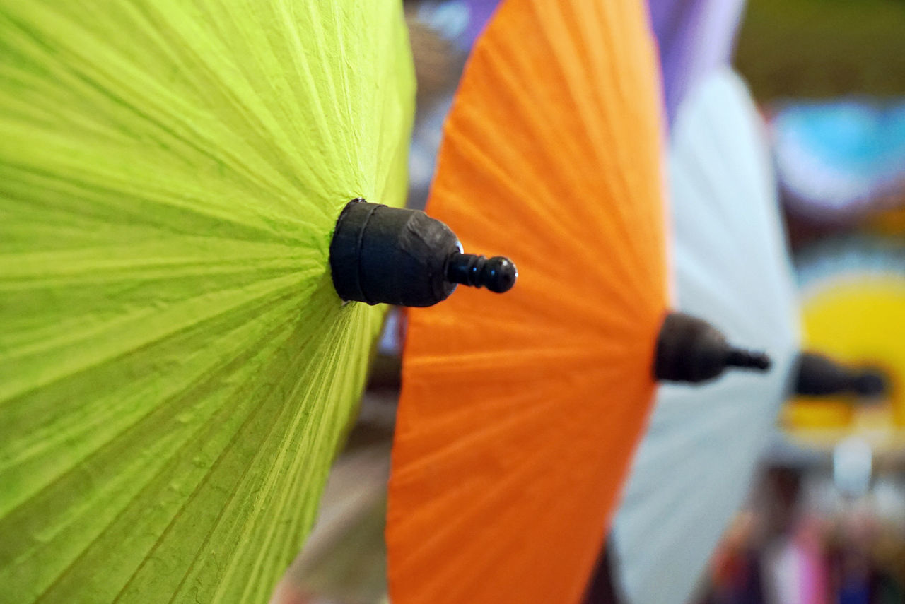 Chiangmai Colorful Colorful Umbrellas Handicraft Handicraft Umbrella Thailand Traditional Umbrella Umbrella