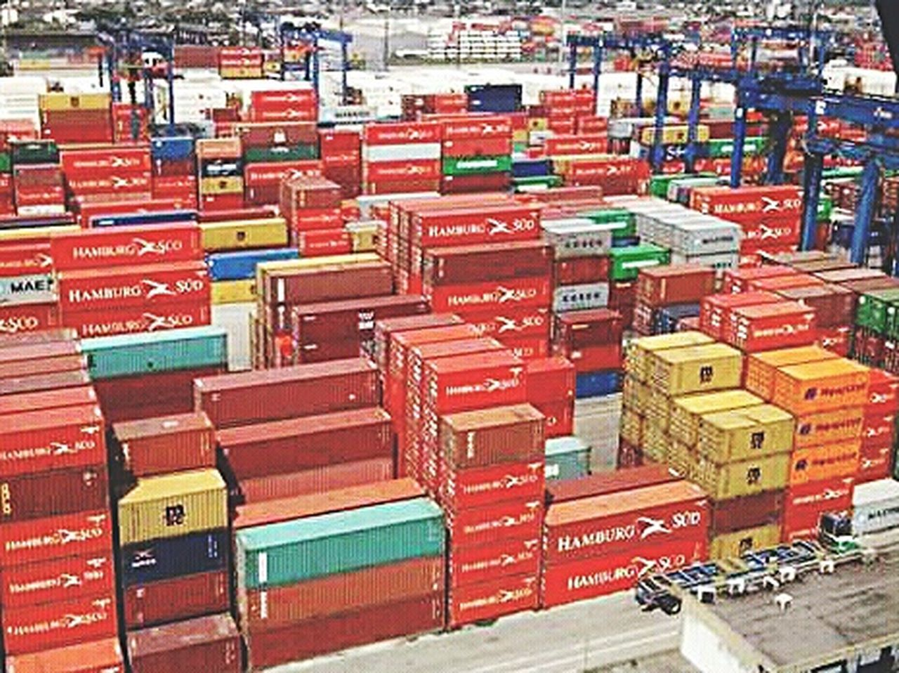 Freight Transportation Cargo Container Commercial Dock Shipping  Transportation Harbor Multi Colored Nautical Vessel Sky Travel In A Row Stack Outdoors Industry Travel Destinations Business No People Day City Beautifully Organized