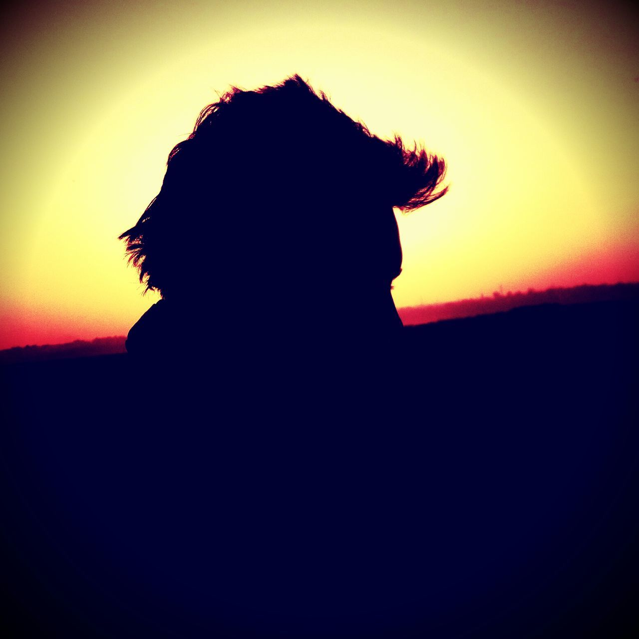 silhouette, sunset, nature, beauty in nature, sky, scenics, one person, real people, landscape, outdoors, clear sky, men, people