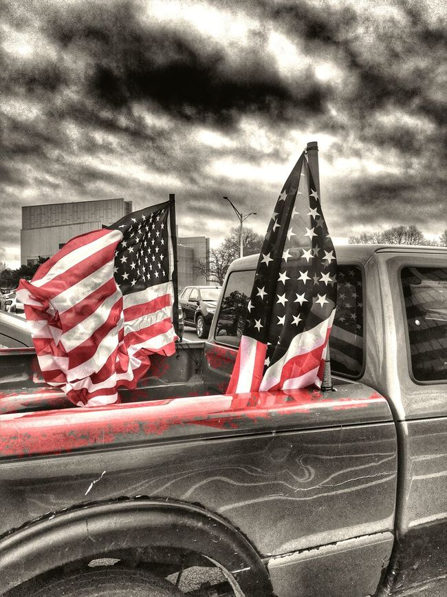 For the love of America...Saw this truck and though.. It doesn't get more American than this Redwhiteandblue American Colorsplash USA FLAG Letfreedomring Protect Freedom HDR Hdr_Collection Hdr_gallery Hdr Edit Showcase: November
