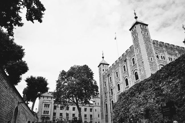 Tower of London Architecture Building Exterior Built Structure Church City Clock Tower Cloud Cloud - Sky Day Historic History Low Angle View No People Outdoors Place Of Worship Sky Tall - High The Past Tourism Tower Travel Destinations Tree