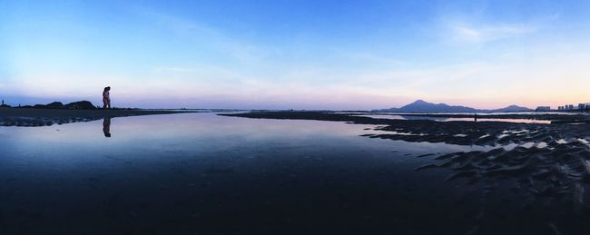 DONGSHAN ISLAND- 旅志 Water Tranquil Scene Tranquility Reflection Scenics Sky Lake Blue Beauty In Nature Cloud Nature Waterfront Solitude Calm Non-urban Scene Remote Outdoors Day Countryside Sea