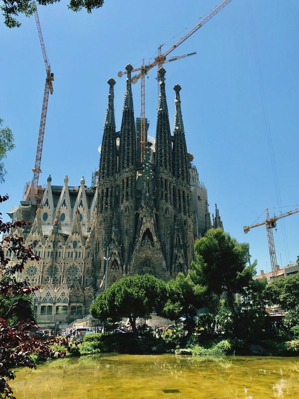 Architecture Sagrada Familia Barcelona Travel Destinations