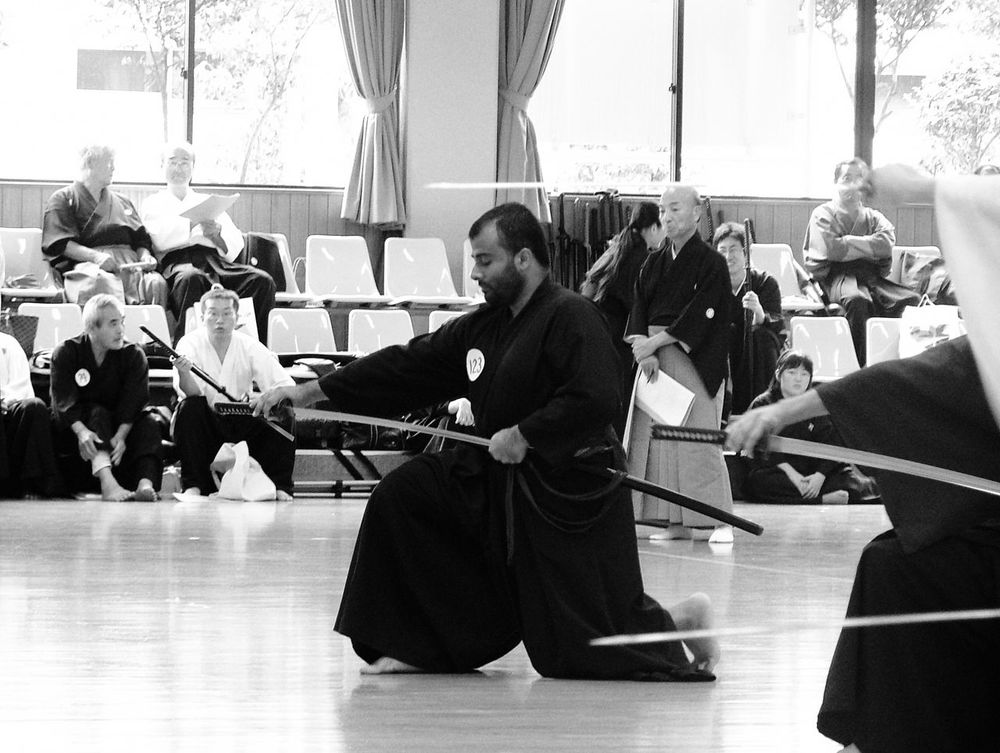 Iaido ni dan test, Nagoya, Japan, September 2004 2004 Black And White Iaido Japan Katana Lifestyles Nagoya Real People September Sword 刀 名古屋 名古屋市 居合道 日本