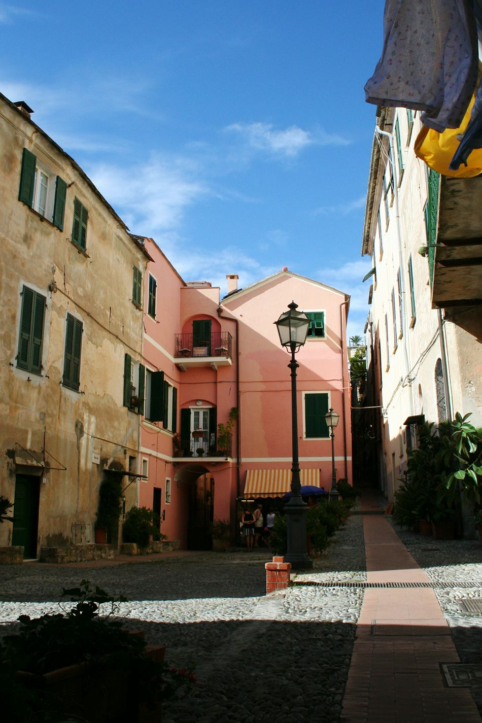 Architecture Building Exterior Built Structure Sky City Outdoors No People Day Liguria,Italy Old Buildings Architectural Details Italian Village  Travel Destinations Mediterranean Village Sunlight Vicolo Del Paese Narrow Street Old Street