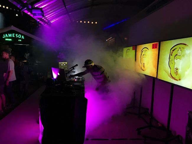 Popular Music Concert Illuminated Real People Nightlife Men Indoors  Arts Culture And Entertainment Occupation Leisure Activity Lifestyles Night Large Group Of People Standing Nightclub Performance Neon Women Musician Adult People