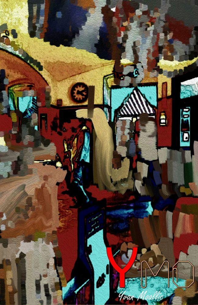 Segafreddo Istanbul City Istanbulove Digital Art Digital Imaging Digitalnomad ArtWork Indoors  Forthefriends Turkey Ymoart YMO Hello World Peinture Composition Couleurs Café De La Recherche Inspirations Light And Shadow Malerei