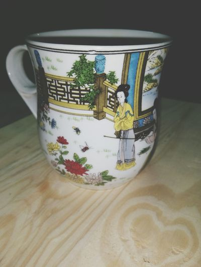 No People Wastepaper Basket Paper Currency Nature Day Porcelin Tea Time Chinese Porcelain White Cup Close-up Japanese Painting Chinese Fairy Tale