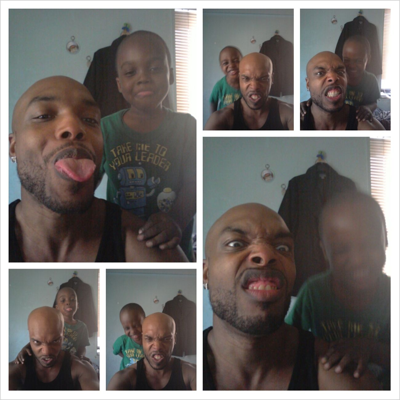 The young God Mason & myself Silly Faces! Proud Father