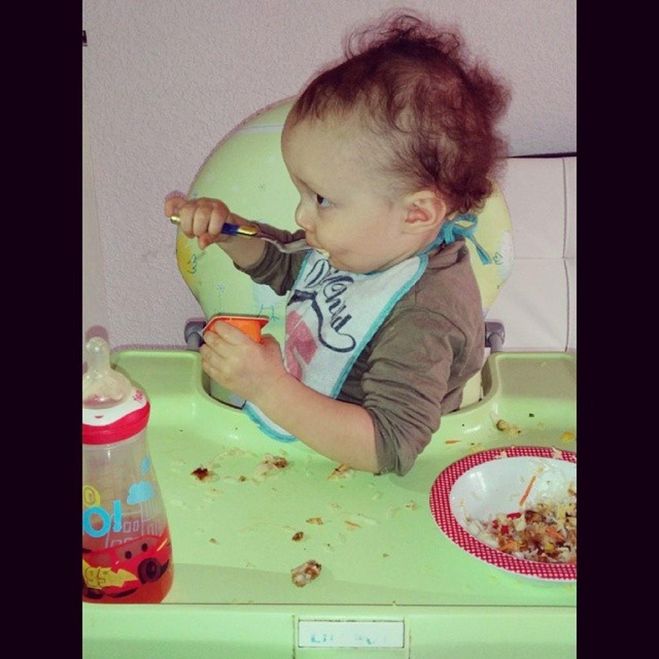 Mon fils a 15mois mange tout seul ?? Thiago Salvatore 15mois ? Italiano ❤