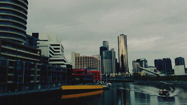 When in Melbourne Architecture Skyscraper City Waterfront Cityscape Tall - High Tower Travel Destinations Dusk River Financial District  Urban Skyline Travel Photography Seafarers Australia Australia Streetphotography Melbourne City EyeEm Best Shots EyeEm Gallery EyeEmBestPics