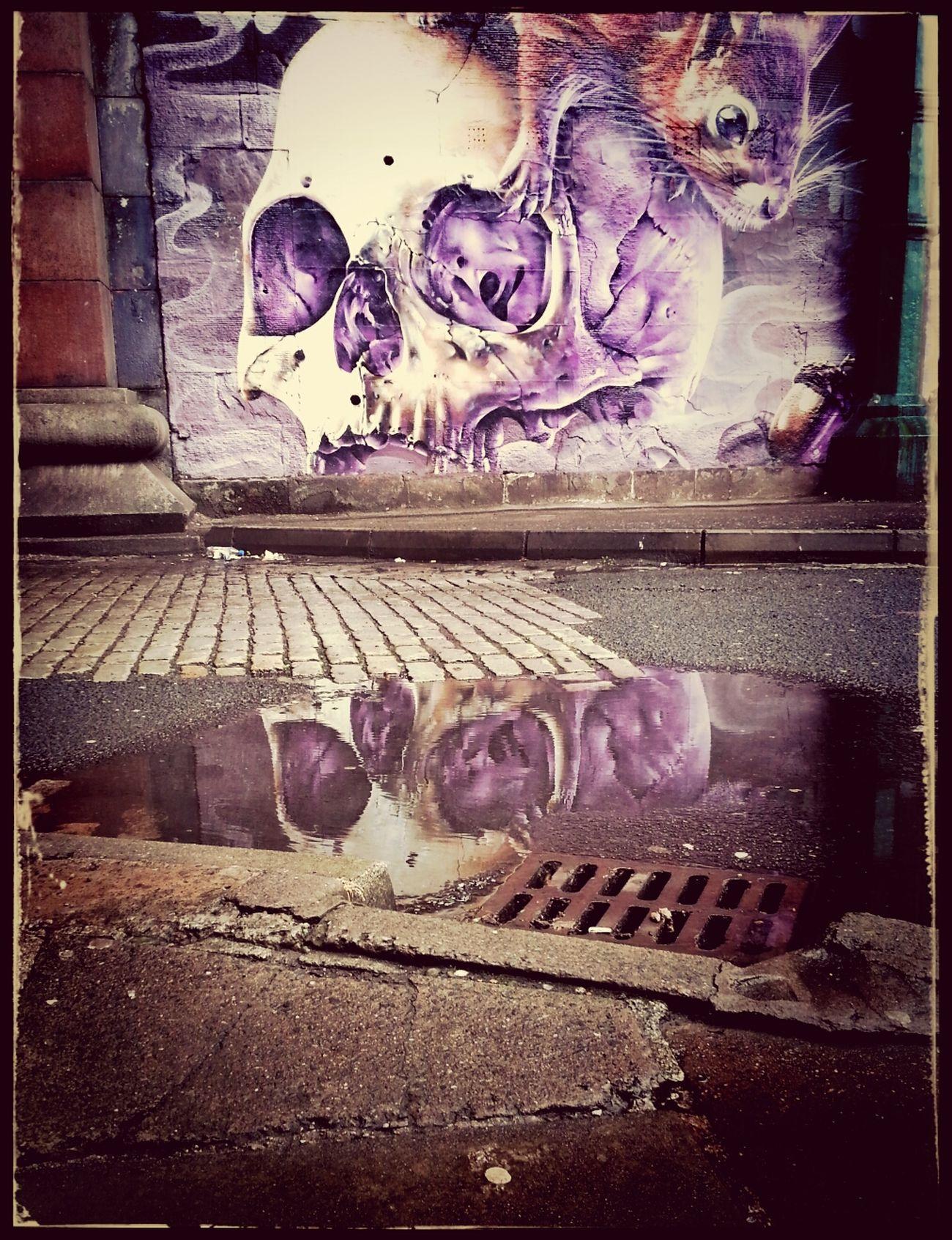 Graffiti Under The Bridge Skull