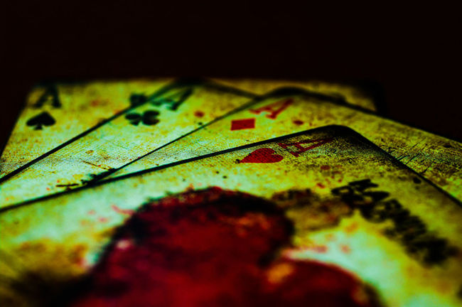#aceofhea #aces #cards #fire #cool #sick #closeup #macro #macrolens #playingcards #vintage