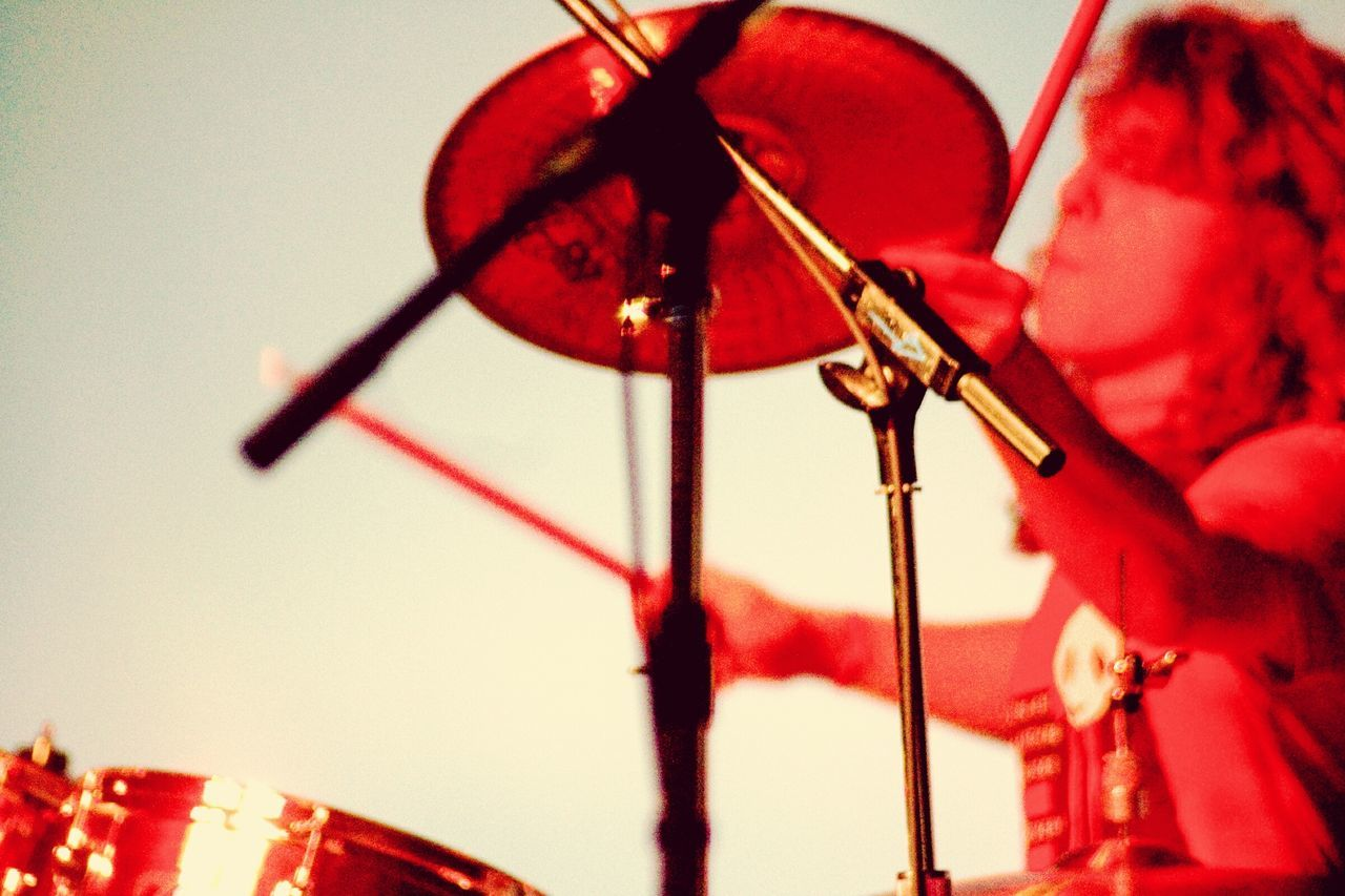 EyeEm Selects Red Fuel And Power Generation Indoors  Microphone Close-up Cymbal Crash About To Smash Musicians Up Close Musicians Hands Musician In Action Hands On Holding Wait For It... Rock Out ROCK ON! Hit It!