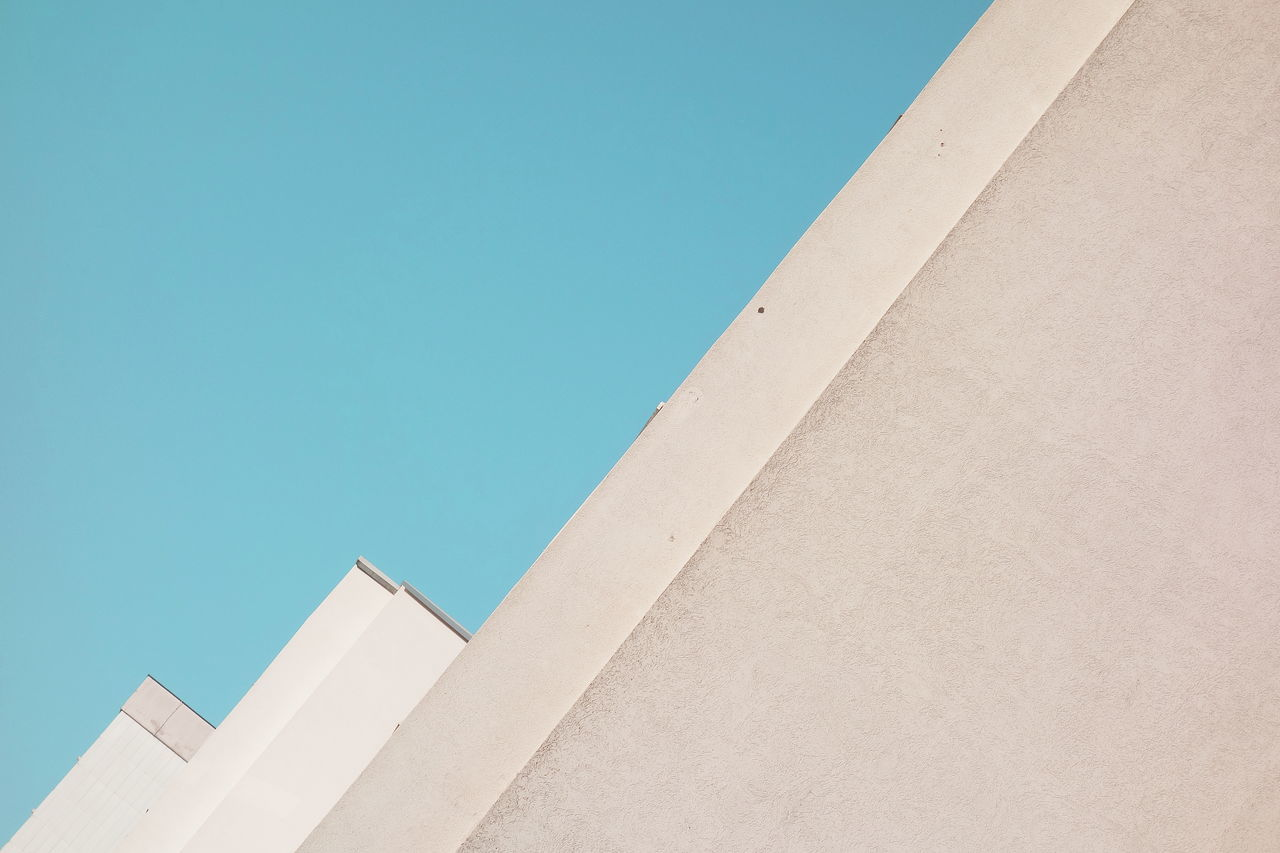 Abstract Architecture Building Exterior Built Structure Clear Sky Day Façade Lines And Shapes Minimalism Simplicity Sky The City Light