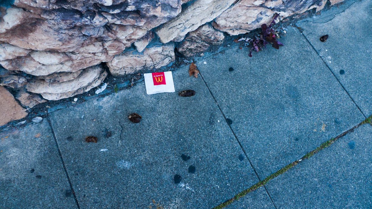 # Street Photography #capitalism #contemporary #mcdonaldsproblems #poor #poorstreet #shit Ground Road