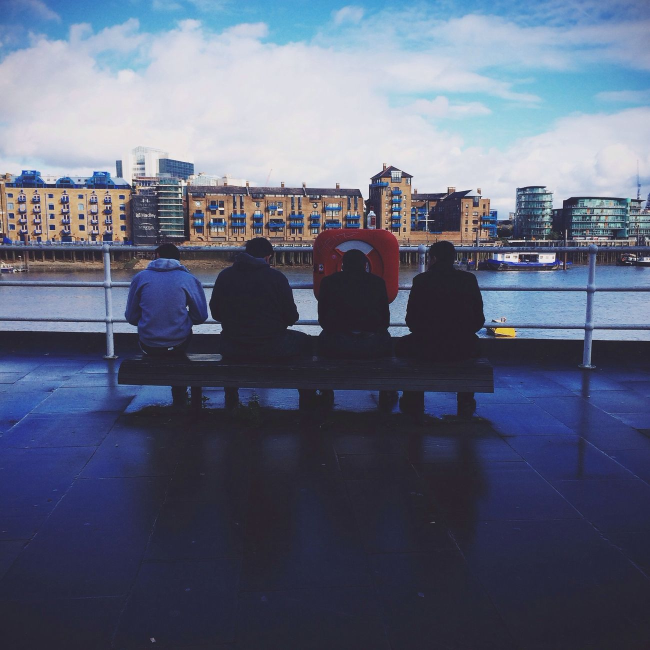 // Sitting by the dock of the bay // AMPt - Street Candid Friends Chilling