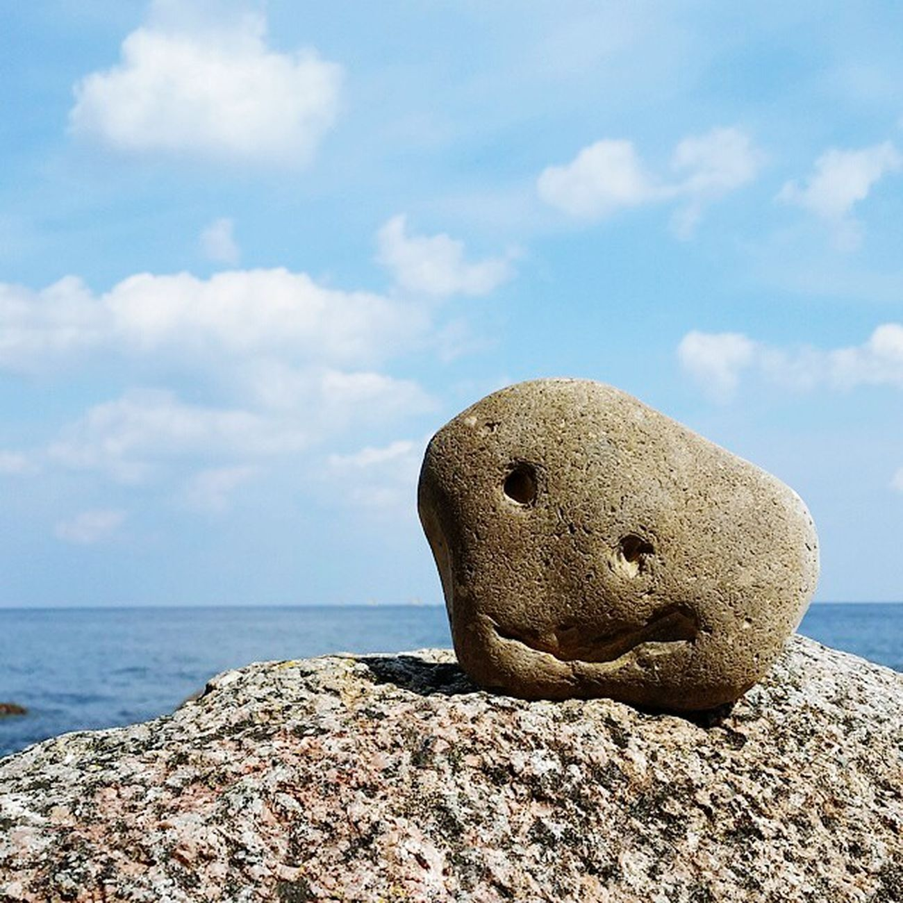 You can smile, even if your heart is made of stone... Stone Symbolic  Baltic Sea Ostsee Insel Rügen Coast Smile Lächeln