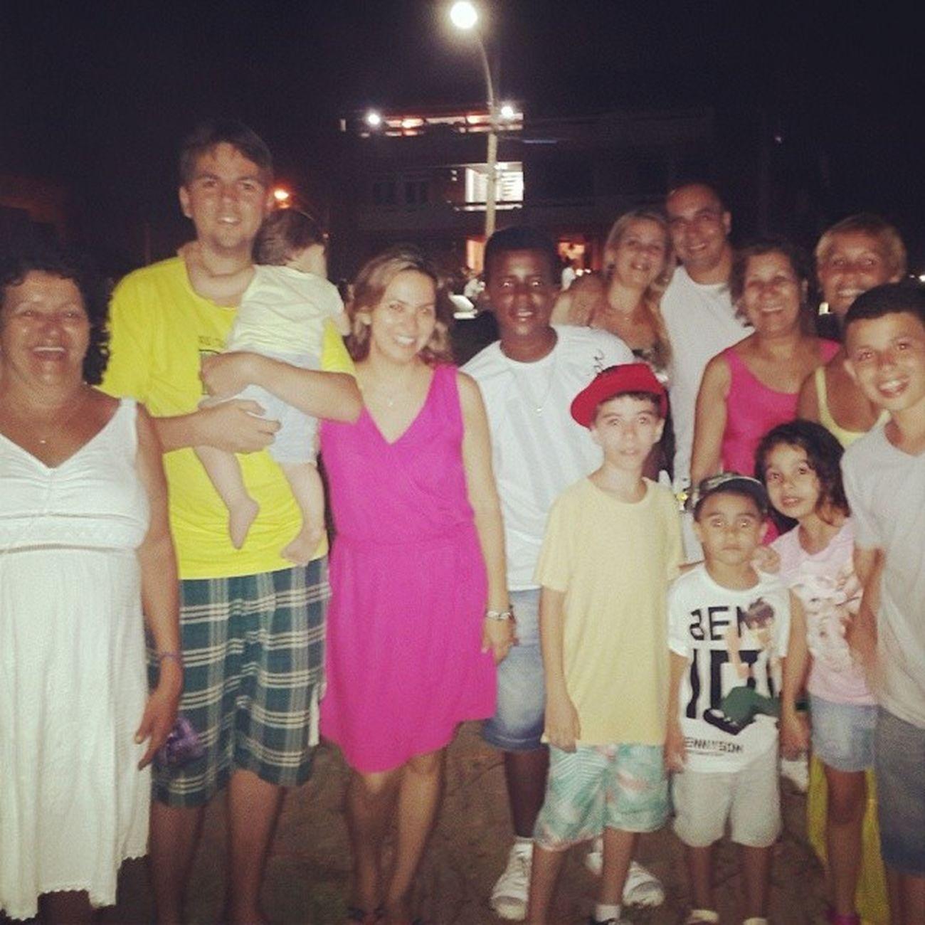 Família na praia !
