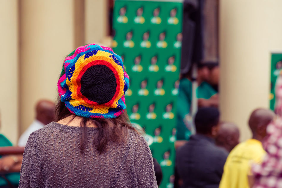 Multi color cap Adult Adults Only Close-up Colorful Colorful Headwear Day Focus On Foreground Hair Headshot Headwear Ladies Hat Lady Wearing Cap Leisure Activity Lifestyles Multi Colored One Person Outdoors People RASTA Rasta Hat Rasta Headwear Rear View Reggae Reggae Cap Women