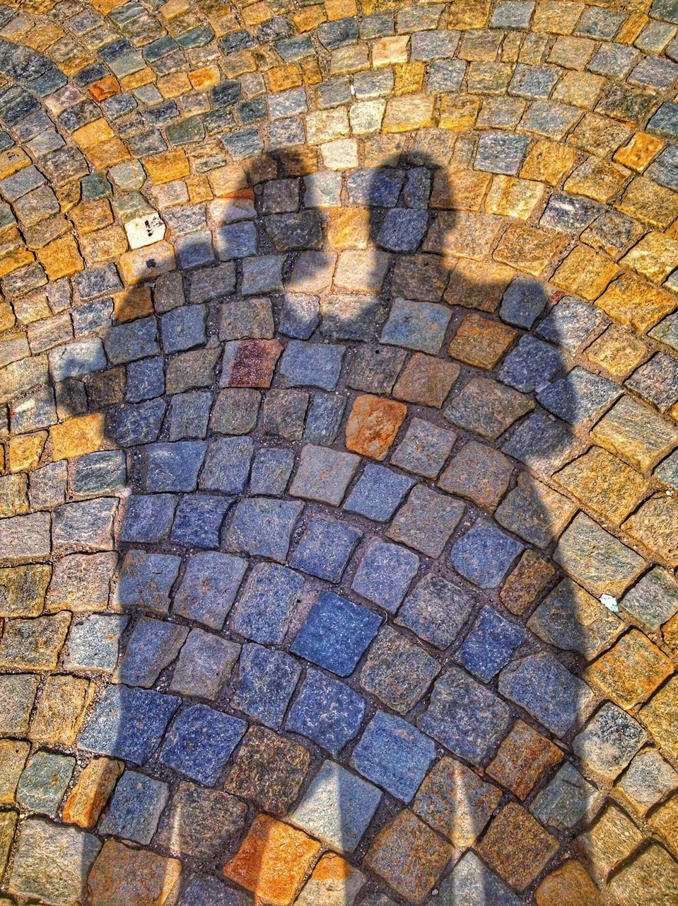 cobblestone, high angle view, day, street, no people, outdoors, full frame, stone tile, textured, close-up