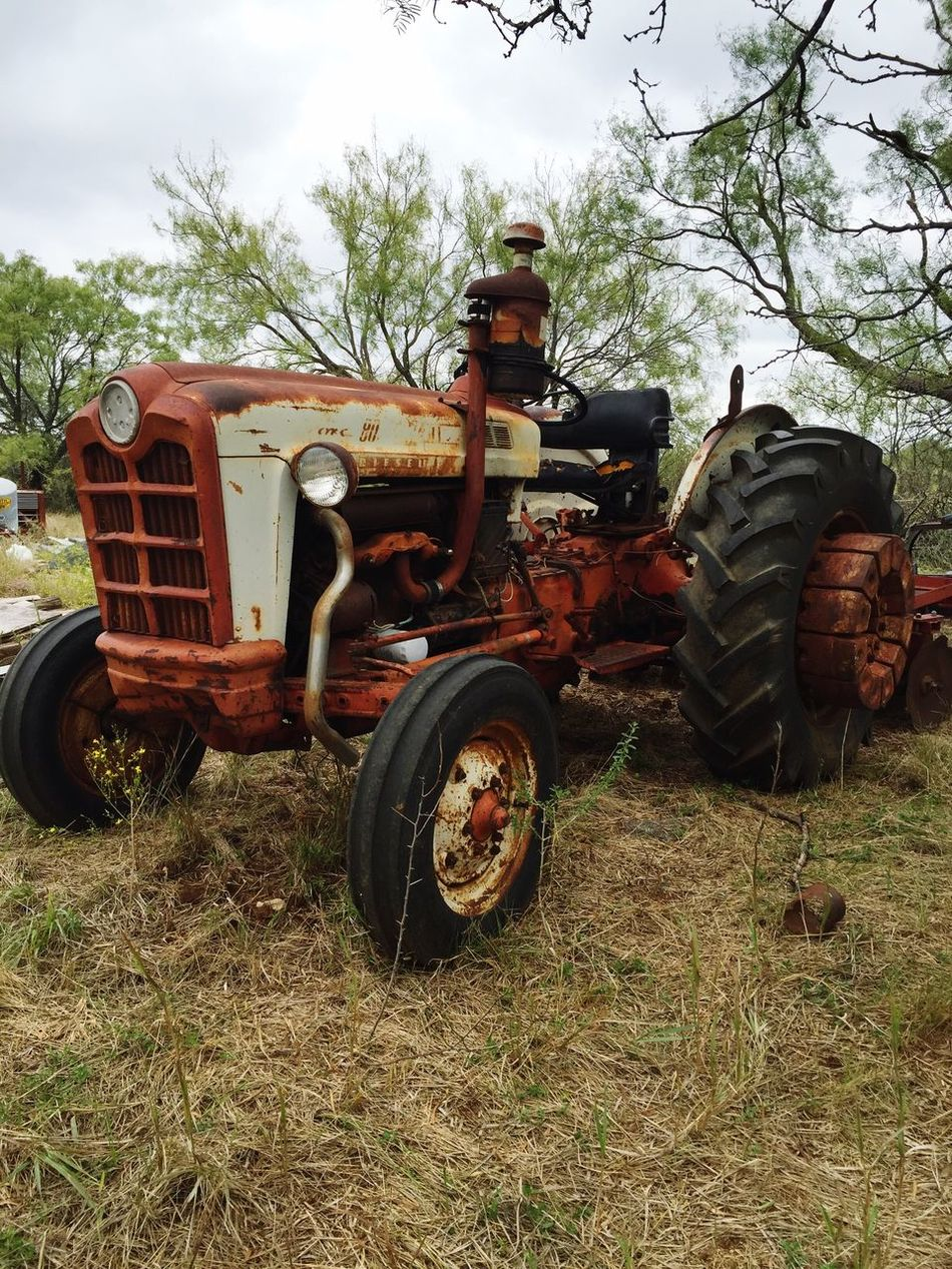 Old Tractor In Field Farming Equipment Obsolete Old Ancient