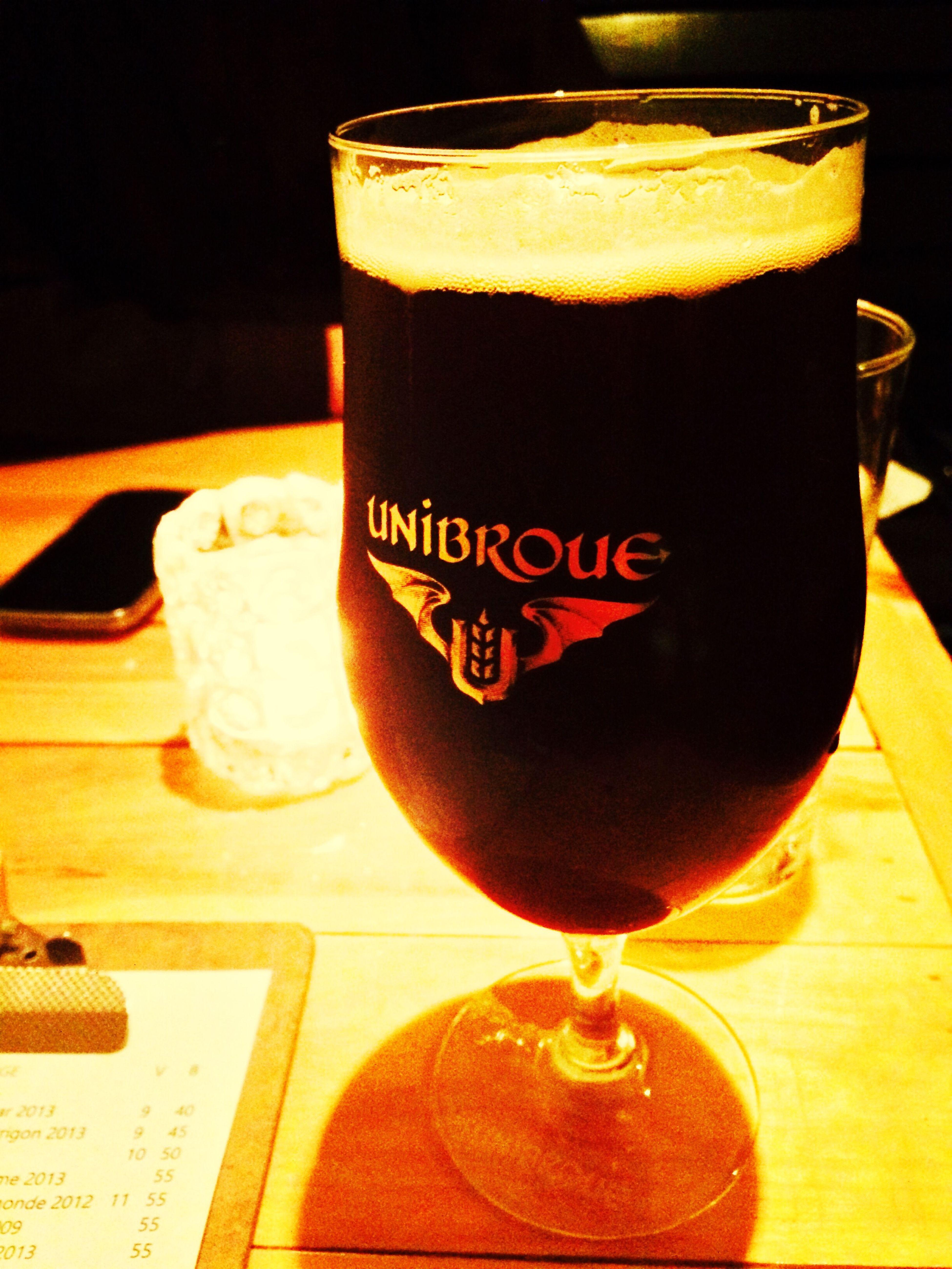 La Résolution Beer Bière Unibroue Montréal Quebec Canada