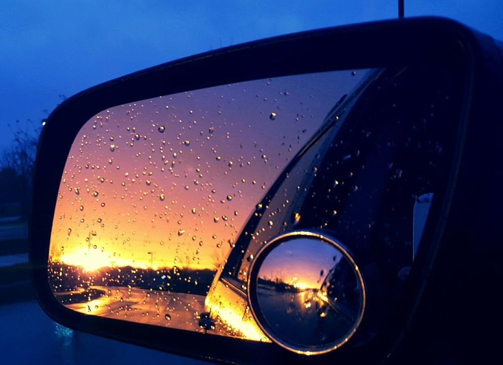 From a Sideviewmirror Sideviewmirrorshot Reflection Sunset_collection Rainy Night