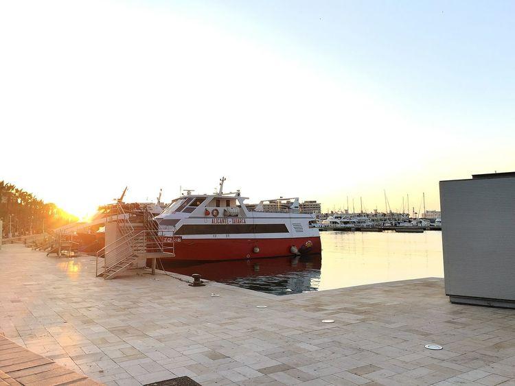 Puerto de Alicante. Boats Sunlight Sunbeam Water Sun Ship Day Tranquility Nautical Vessel