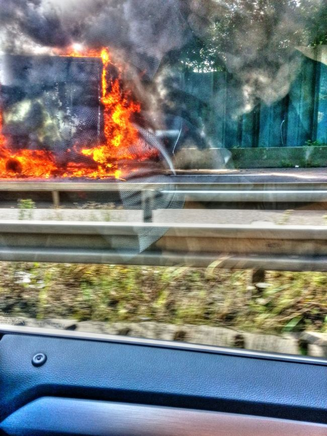 Close-up Fire Rescue Focus On Foreground Land Vehicle Mode Of Transport Motion No People On Fire On The Road Part Of Road