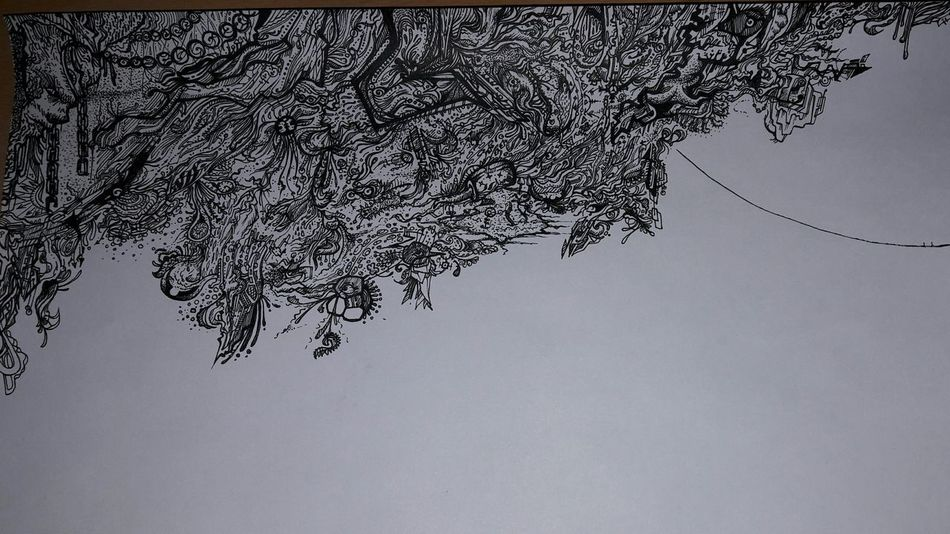 Doodle BORED! Lines Art Not Finished Yet... Check This Out Drawing Creative No People Cloud - Sky White Background Fun Lineart Black & White
