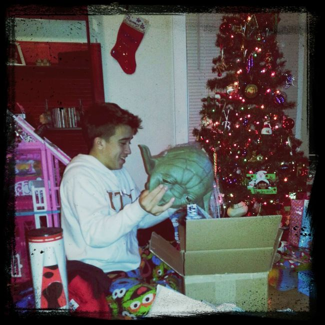 Christmas Morning ❤ All Smiles ツ Yoda The Force Is Stong In This One