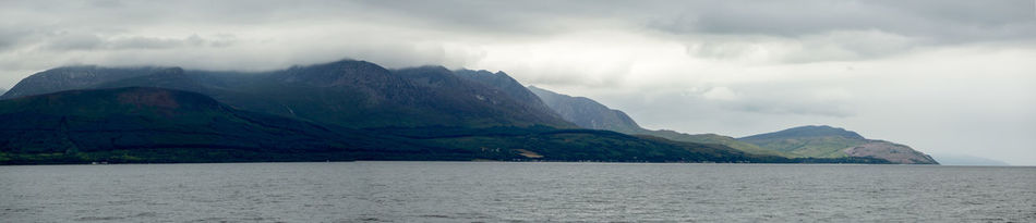 Family holiday to Scotland Cottage Green Holidays Horizon Over Water Isle Of Arran  Mountain Mountain Range Water