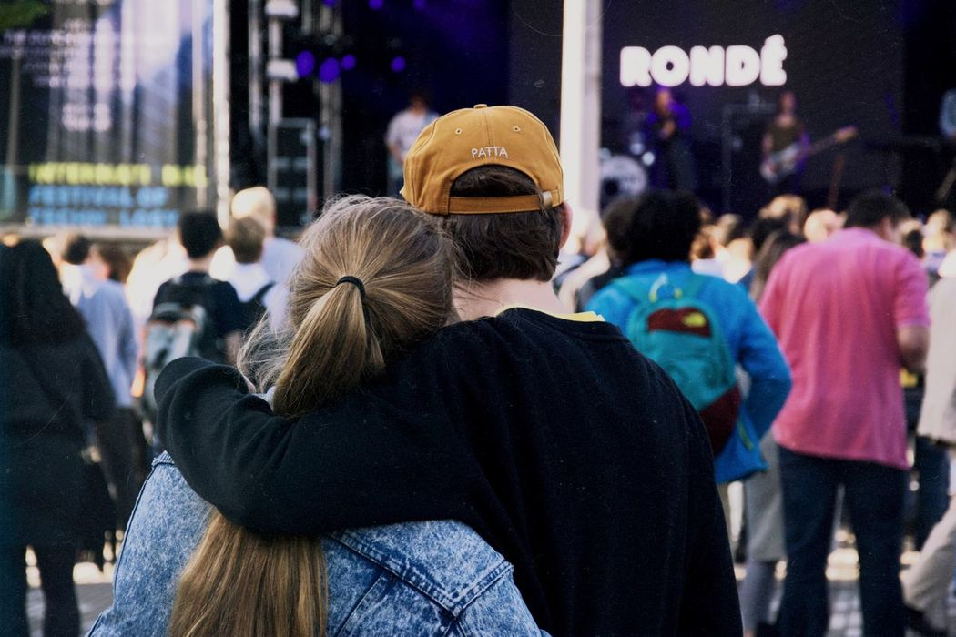 Focus On Foreground Large Group Of People Rear View Crowd Real People Lifestyles Women Outdoors Men People Adult City Warm Clothing Day Festival Ronde Summer Festival Season Music Music Festival Concert Happiness Couple Lovers Landscape