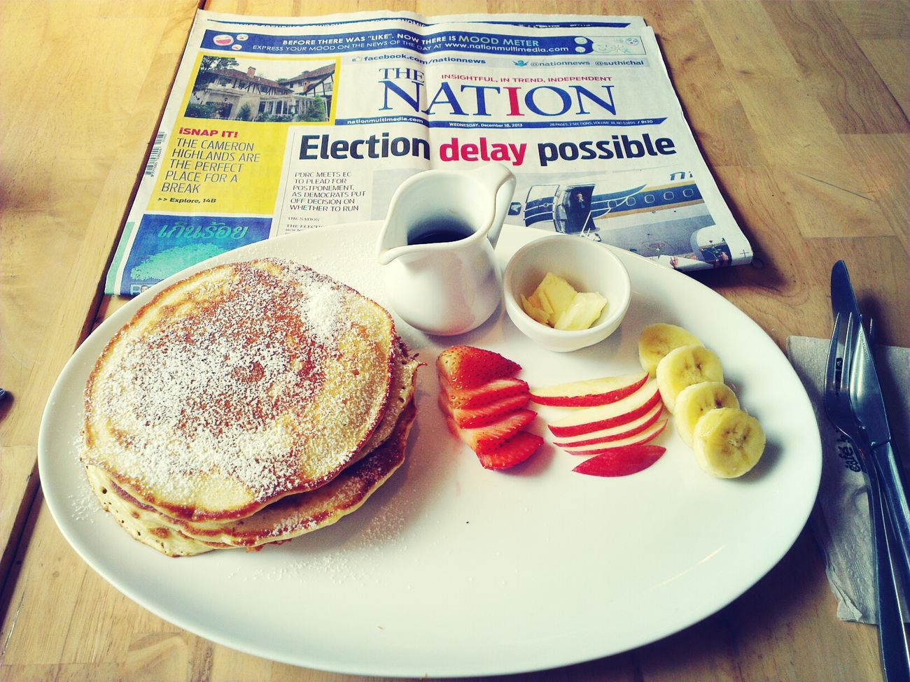 Buttermilk Pancakes on my last day, not venturing to far from the hotel.
