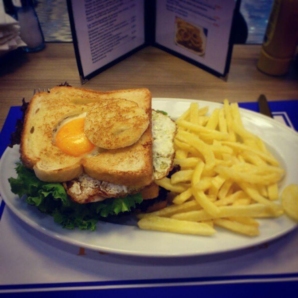 Lunch at the El_Corte_ingles Cafeteria Great and fulfilling sandwich puerto banus puerto_banus marbella spain