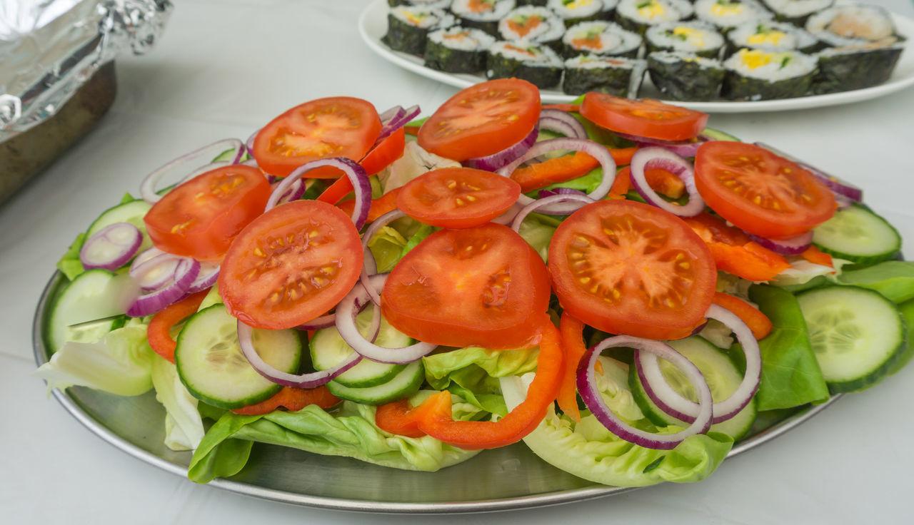 Sliced fruit & vegetables Day Food Food And Drink Freshness No People Salads Sliced Fruits Sliced Vegetable