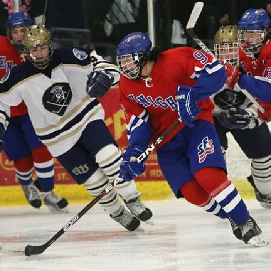 @rkwapo96 with thw puck state semi game Sfshockey Playoffhockey Proud
