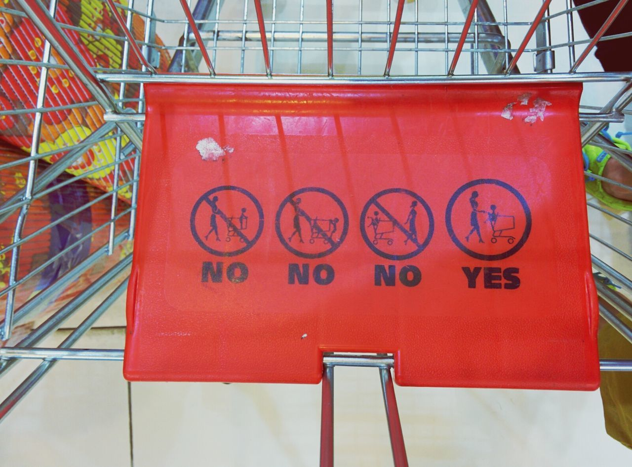 a no is a no is no is a yes Safety First!
