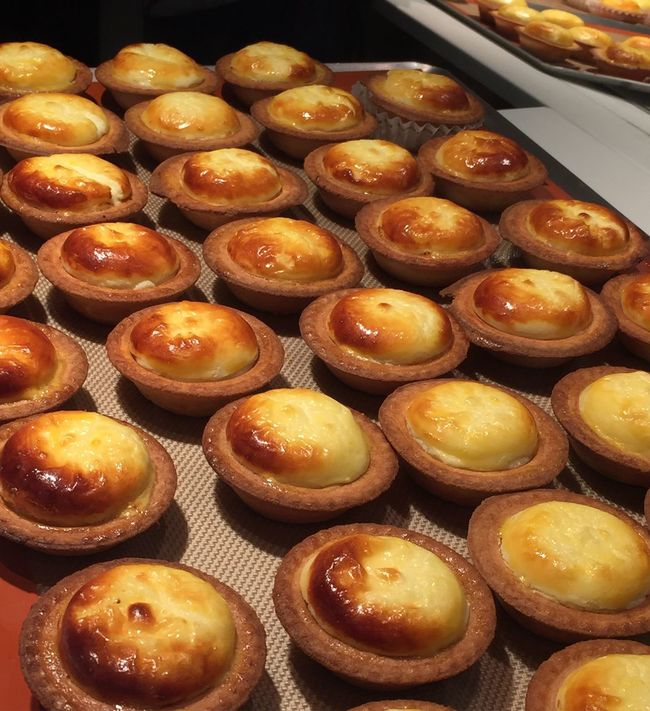 Just passing by and saw these Amazing Cheese Tart Japanese  Creamy Flowing Beautiful Gorgeous Freshly Baked Bake Hot WOW Food Hungry Trendy Delicious Fresh Dessert Sweet