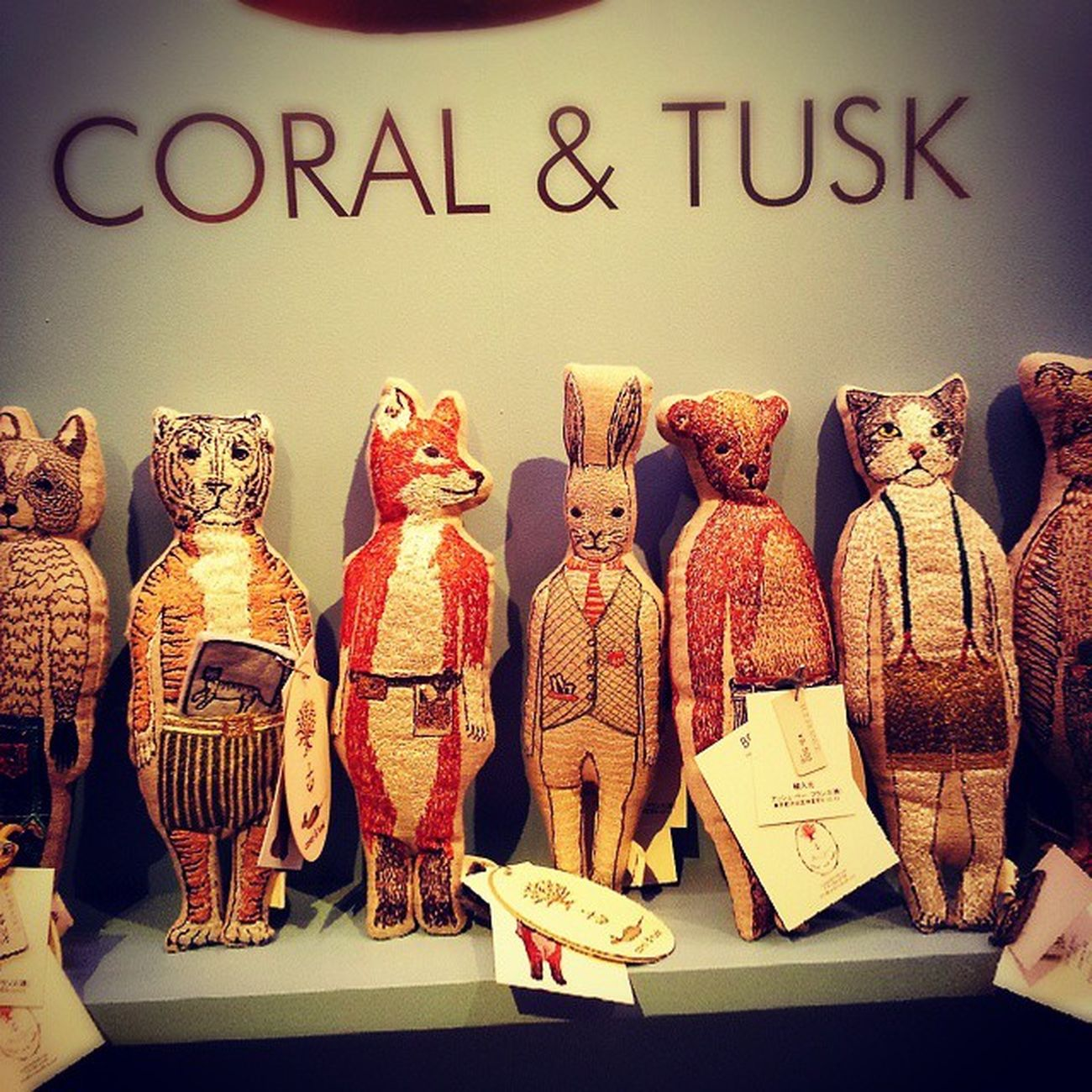 Sooooo cute! CORAL&TUSK pop-up shop@代官山蔦谷書店 代官山 Interior Coralandtusk Cute myfavorite daikanyama tsutaya tsite embroidery home decor